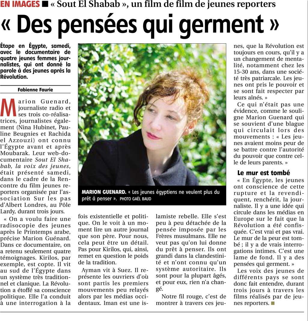 """Article """" Des pensées qui germent """""""