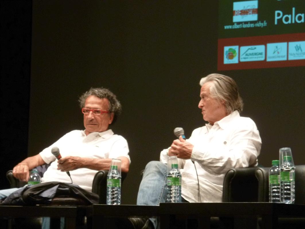 Philippe Alfonsi et Alain Delbos au Palais des Congrès de Vichy lors des journées Albert Londres