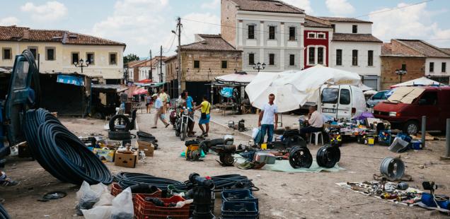 [Reportage photo] Le bazar de Korçë