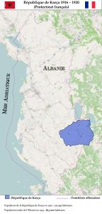 Situation géographique de la République de Korça