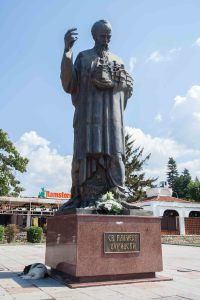 La Statue de Saint-Clément-d'Ohrid sur la place principale