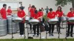 Démonstration de Steel Drum sur le quartier des Ailes