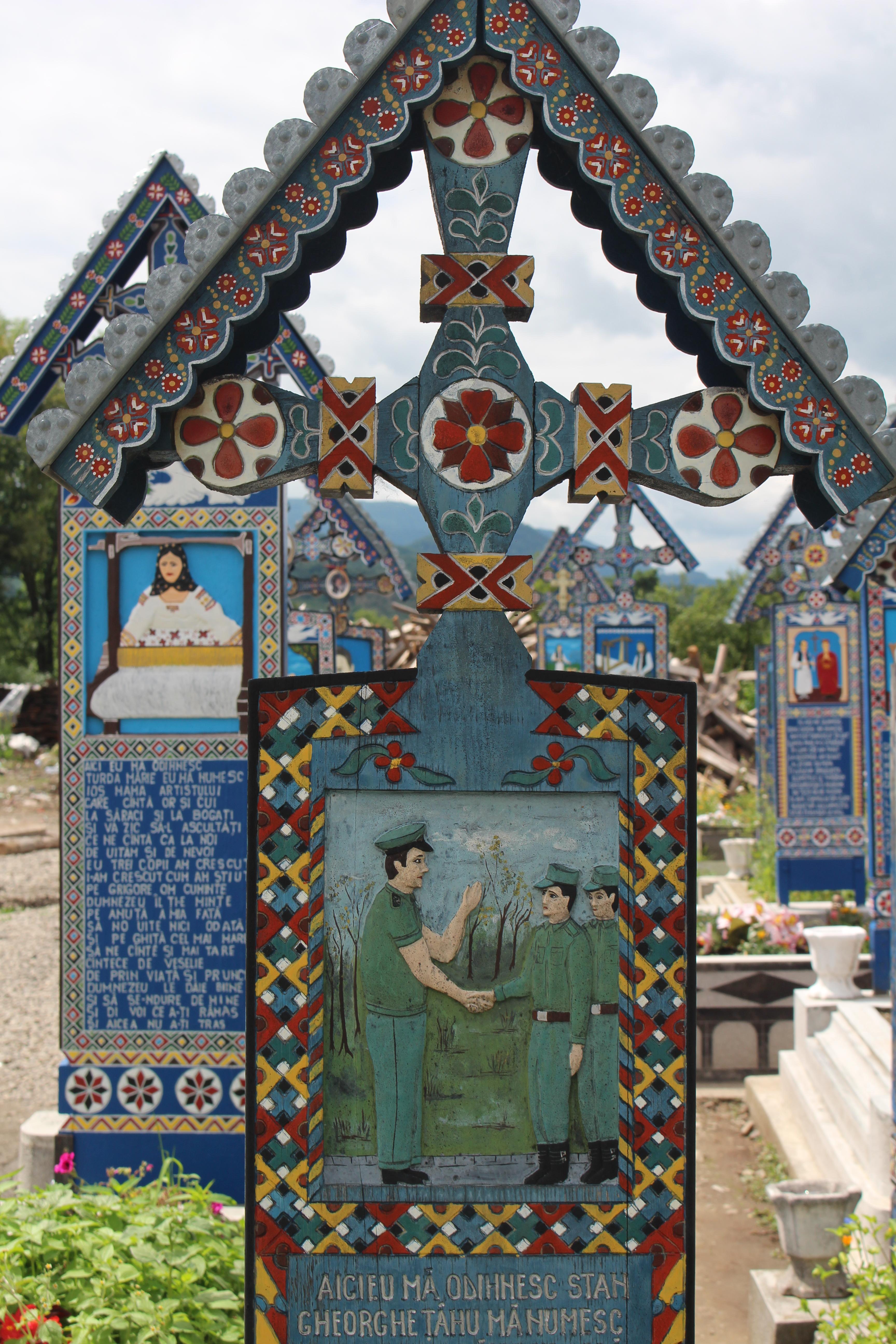 Le cimetière joyeux de Săpântă