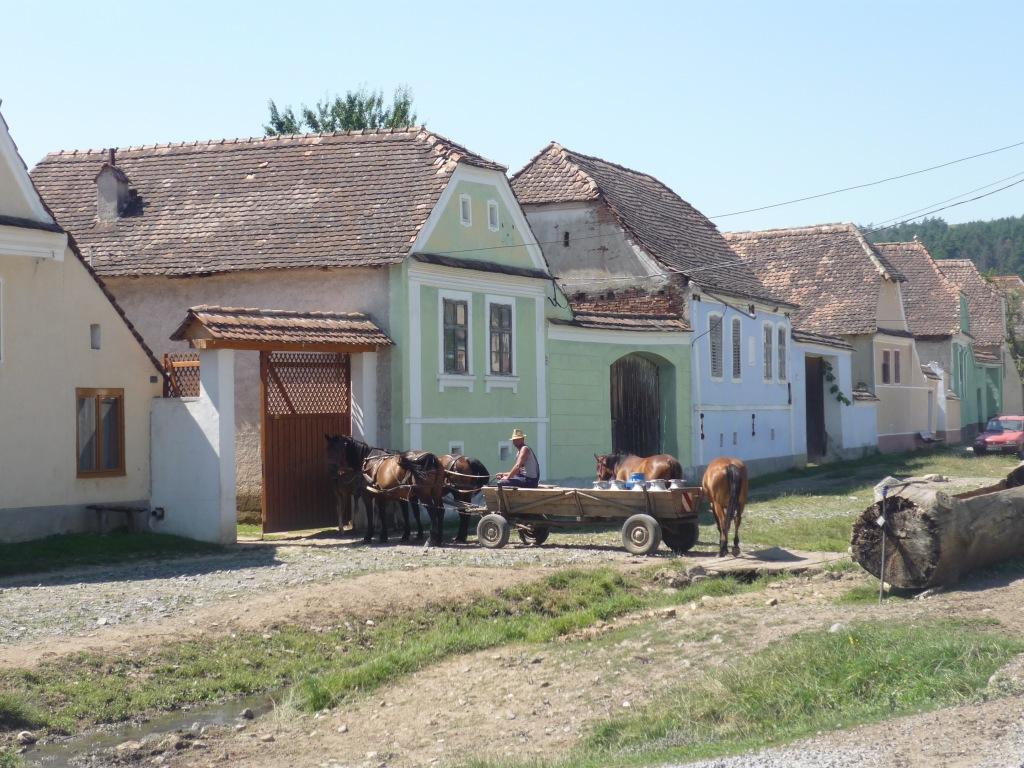 Village de Viscri en Transylvanie