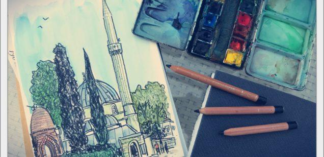 Devant la mosquée