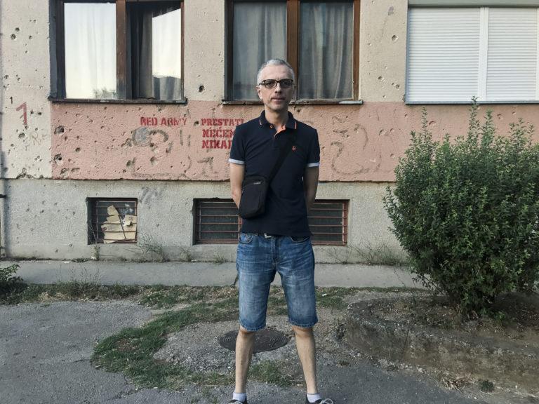 Mirsad Behram, journaliste à Mostar, Bosnie-Herzégovine, 2017