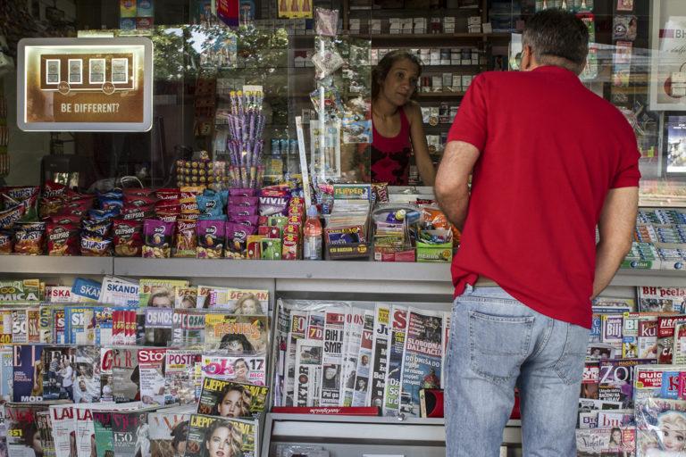 Kiosque à journaux, Mostar, BiH