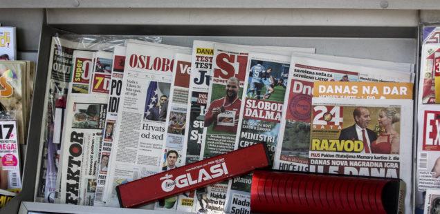 Journaux en kiosque, Bosnie Herzégovine 2017