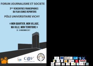 Programme des 3èmes Rencontres francophones du film Jeunes Reporters de Vichy