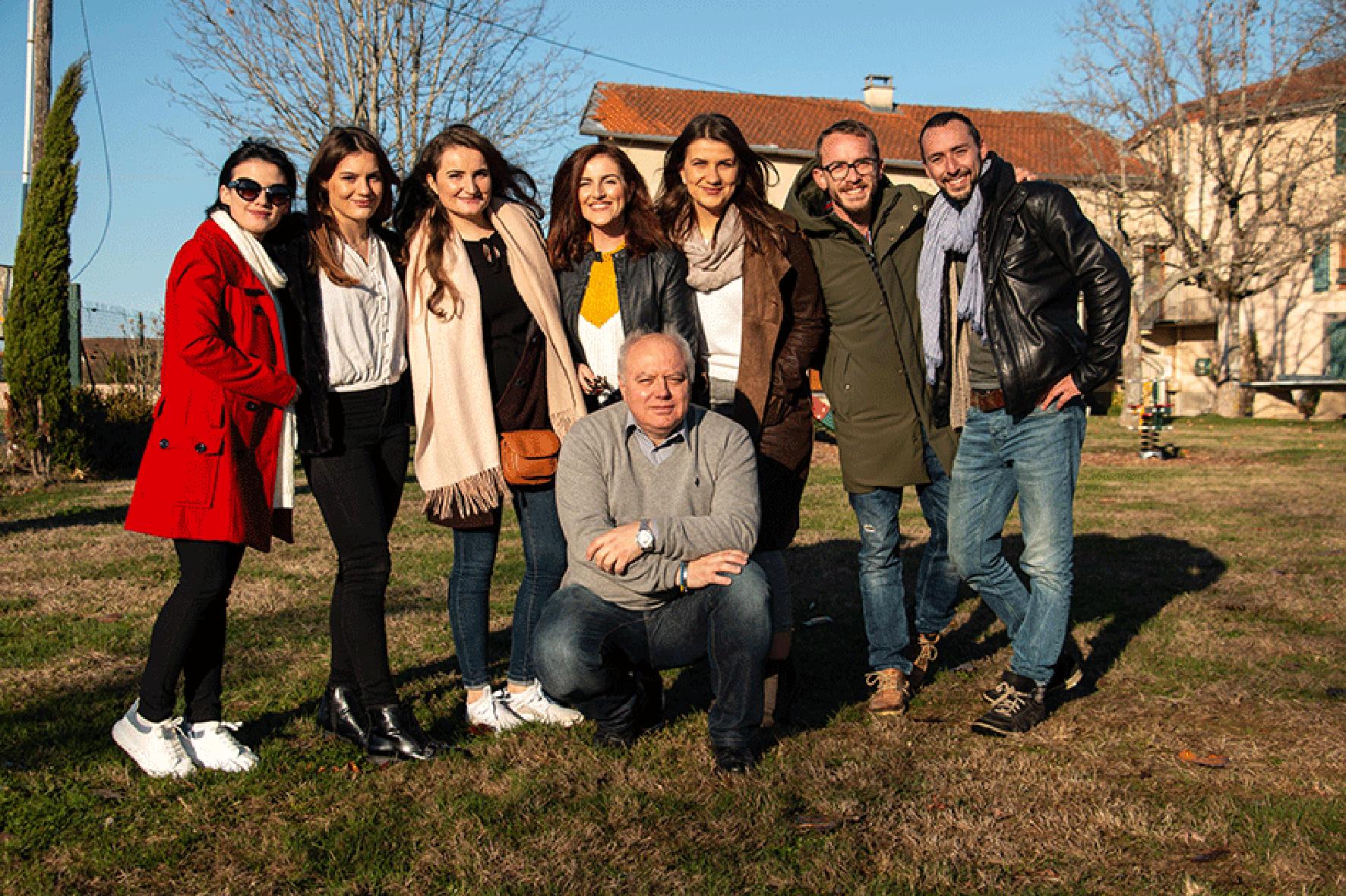 Photo de l'équipe 2018 de Jeunes Reporters des Balkans et de l'Europe du sud-est