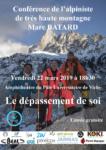 Conférence de Marc BATARD, alpiniste de très haute montagne