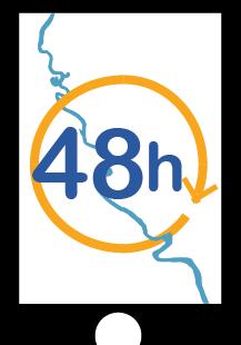 logo des 48h du reportage sur smartphone