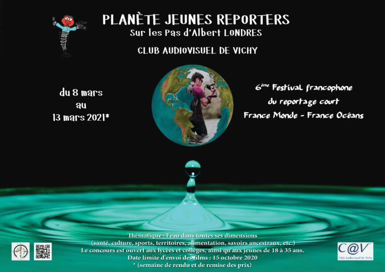 Affiche Festival Francophone du Reportage court France Monde-France Océans 2020