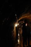 Dans les galeries de la mine d'Or de Rosia Montana