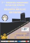 Flyer des Rencontres francophones du film Jeune Reporter 2016 Recto