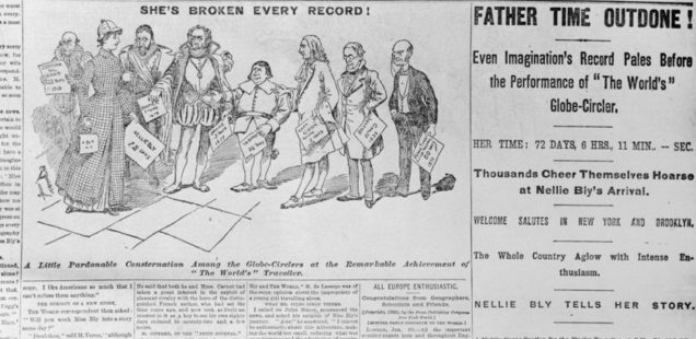 Une du journal The New-York World du 26 janvier 1890